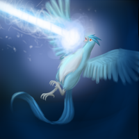Articuno's Ice Beam by BluuSky