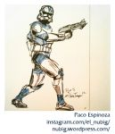 Clone Trooper Sketch by pacoespinoza