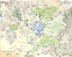 Westri, fantasy map by LingonB