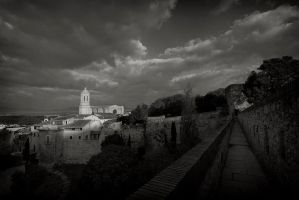 Girona Cathedral Morning Light by eternumviti