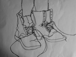 boots - blind contour by tawny