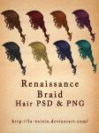 Renaissance Braid Stock - Hair PSD and PNG by la-voisin