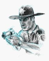 Rick the Sheriff quick sketch by sebadorn