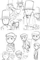 Professor Layton and Luke by nyu
