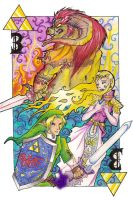 LoZ Triforce Card by ACDragon