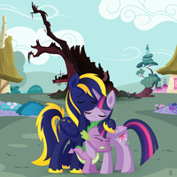 MLP Commission old library tree by Exceru-Hensggott