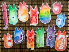 More cat bookmarks by Kattvalk