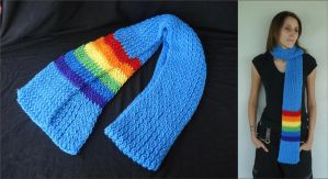 MLP Rainbow Dash Scarf by RebelATS