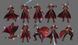 DMC 4 - Dante Pose Pack #1 by IshikaHiruma