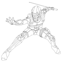 Mass Effect ~ Cerebus Phantom Lineart by illumios