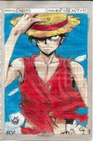 One Piece:Luffy by GrimaceCat