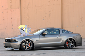 Derpy and her Mustang by nestordc