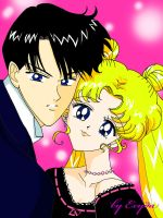 Usagi and Mamoru: Cheese ! by exyda