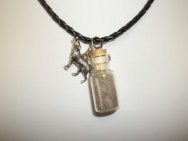 Gray Wolf Spirit Totem Pendant Necklace by DaybreaksDawn