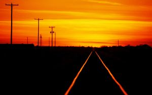 Railroad Sunset by westtxphotographer