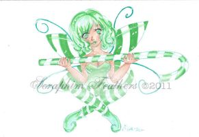 Candy Cane Fairy by SeraphimFeathers
