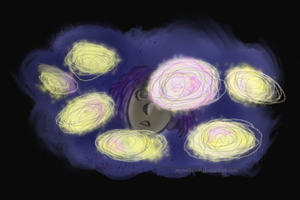 Poof of stars. by mymilkiaen
