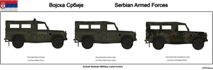 Serbian Military Land Rovers by Milosh--Andrich