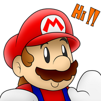 Cute Mario says Hi!! :3 by SuperLakitu