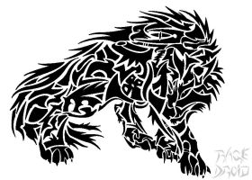 Tribal Wolf by RageDroid