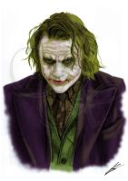 The Joker (Heath Ledger) Batman (color) by Saxa-XCII