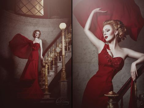 Lady in the red dress by LilifIlane