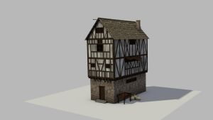 Medieval House 2 WIP 1 by Thosar