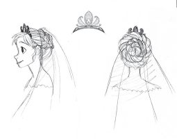 Anna Wedding Dress Hairstyle by djeffers
