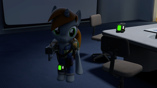 Little Pip with laser rifle by VR-MMORPG