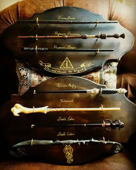 Harry Potter wand plaque by D-Cranford