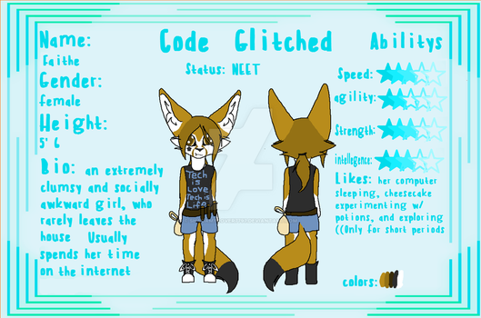Faithe The Fennec Reference Sheet (My New Mascot) by shadamylover7797