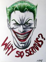 The Joker - Fan Art with Copic Markers by LethalChris