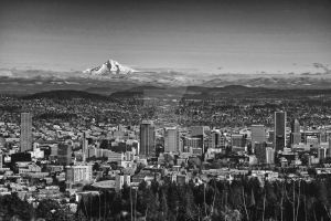 Hood Reigning Over Portland by Walden-Photography