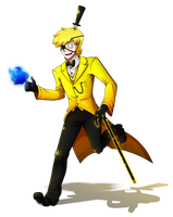 Bill Cipher Humanized by OmegaSam7890