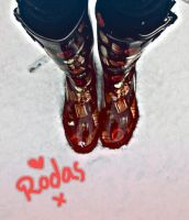 New boots on a snowy day. by AngeliqueChan