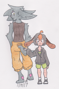 Sky and Kane by Ophus-Atta