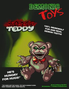 Demonic Toys: Grizzly Teddy by Gummibearboy