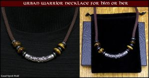 Urban Warrior Necklace For Him or Her by GoodSpiritWolf