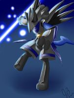 Skarmory plus Lucario by blacktenshi22
