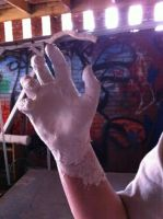 Zombie Hand Mold WIP by Stella--Marie