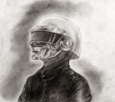 Thomas Bangalter - Pencil by DeviantDolphinART