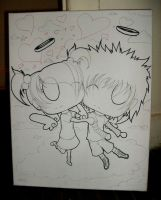 Chibi Love Angel -.uncolored.- by EINimatronic