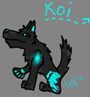Koi the Wolf by FallenWolfLord