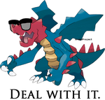 Druddigon Deal With It by AruneProject