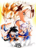 DBZ Goten and Trunks by JA-punkster