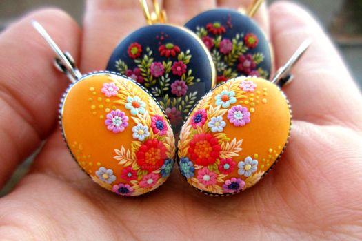 Polymer Clay Handmade Earrings by LenaHandmadeJewelry