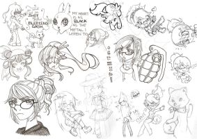 Late 2013 - Early 2014 Sketchdump by HezaChan