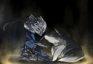 Artorias and Sif by KittyCouch