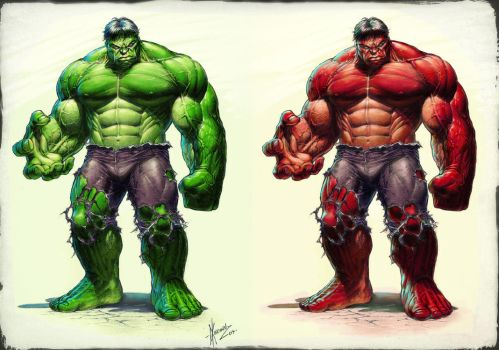 Dale Keown's HULK (My colours) by RawSunlight