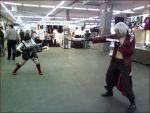 Lady and Dante fight by Thara-Wood